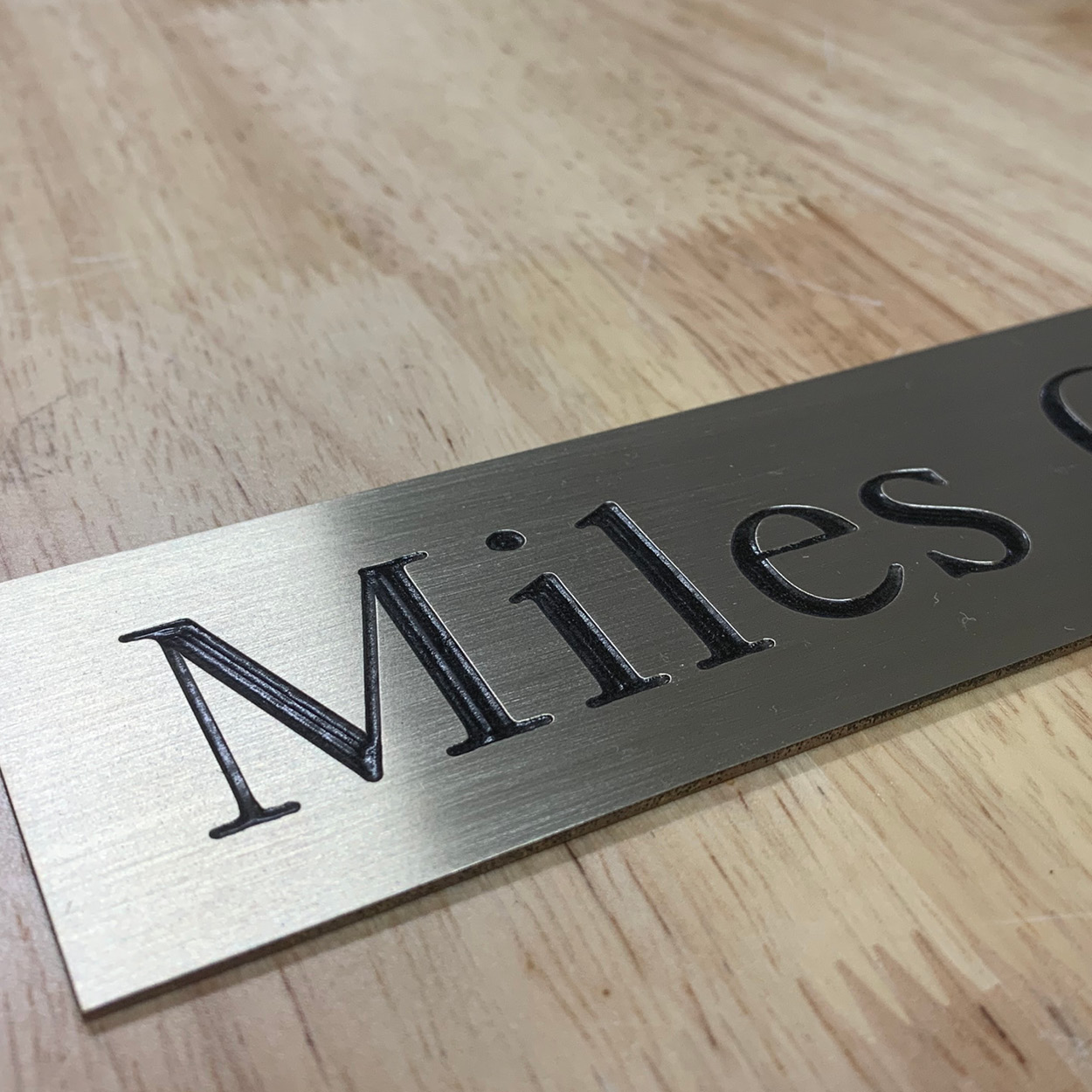 Engraving door sign