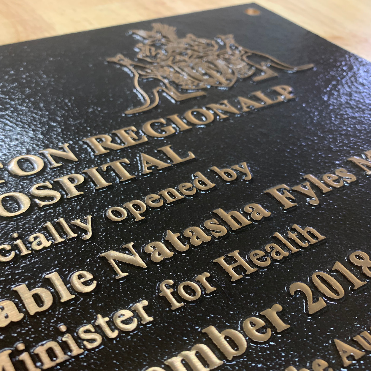 Engraving plaques